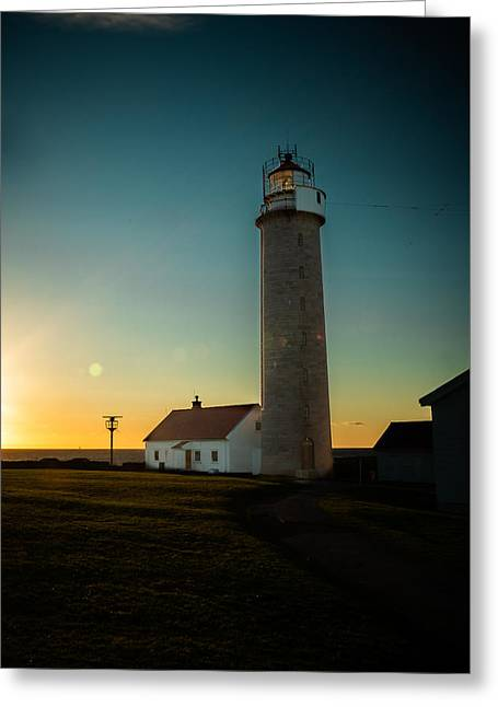 Lista Greeting Cards - Lista Fyr at sunset Greeting Card by Mirra Photography