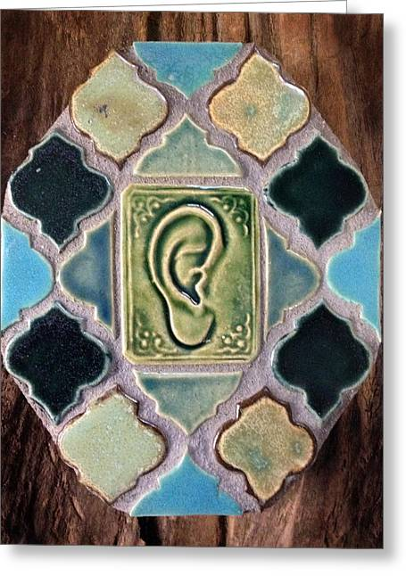 Therapy Ceramics Greeting Cards - Listen Greeting Card by Evelyn Taylor Designs