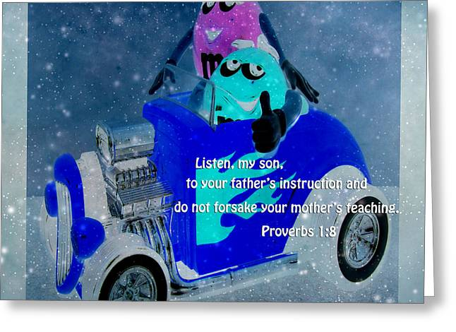Print Greeting Cards - LISTEN My Son Greeting Card by Beverly Guilliams