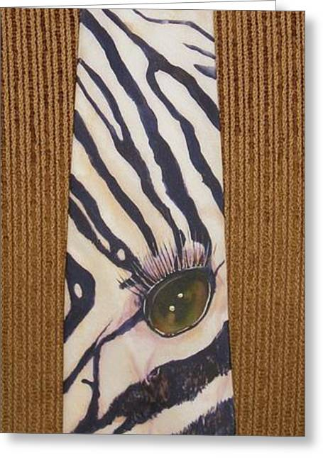 Striped Tapestries - Textiles Greeting Cards - Listen Up Greeting Card by David Kelly
