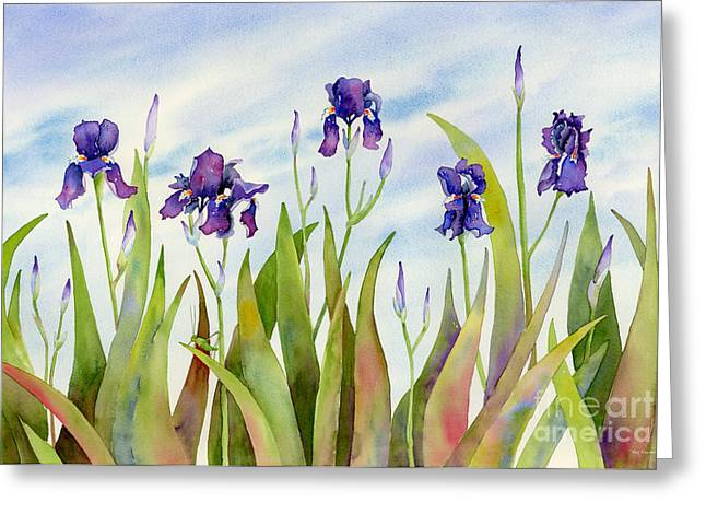 Cricket Paintings Greeting Cards - Listening to Divas Greeting Card by Amy Kirkpatrick