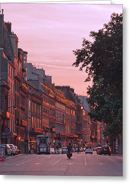 Recently Sold -  - Oranger Greeting Cards - Lit Copper in Paris Greeting Card by Steven Maxx