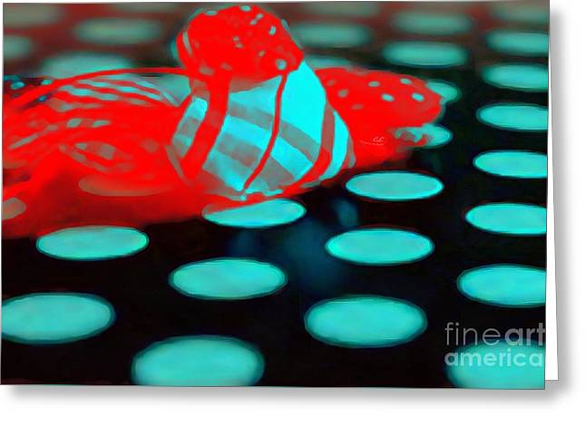 Print On Canvas Greeting Cards - LIT Neon Greeting Card by Catherine Lott
