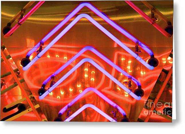 Lit Up Greeting Card by Dan Holm