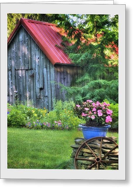 Old Barns Greeting Cards - Litchfield Hills Summer Scene Greeting Card by Thomas Schoeller