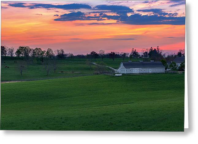 Farmland Greeting Cards - Litchfield Hills Sunset Greeting Card by Bill Wakeley