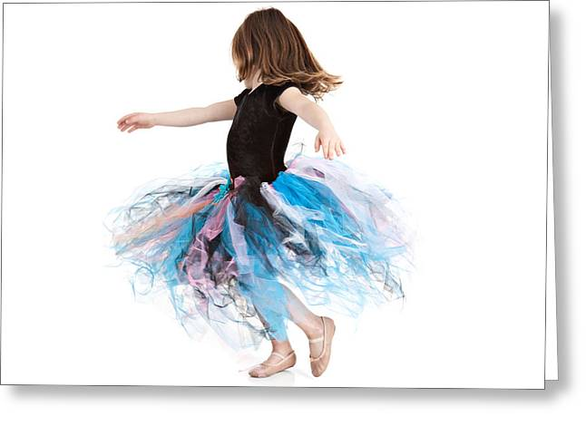 Full Skirt Greeting Cards - Little Ballerina Greeting Card by Cindy Singleton
