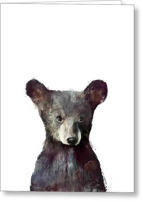 Little Mixed Media Greeting Cards - Little Bear Greeting Card by Amy Hamilton