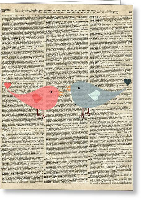 Baby Room Greeting Cards - Little Birds Love Greeting Card by Jacob Kuch