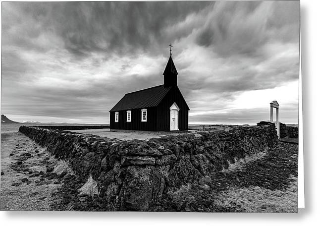 Little Black Church 2 Greeting Card by Larry Marshall