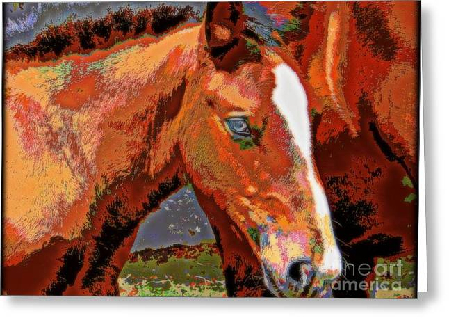 Little Blue Eyes Greeting Card by WBK