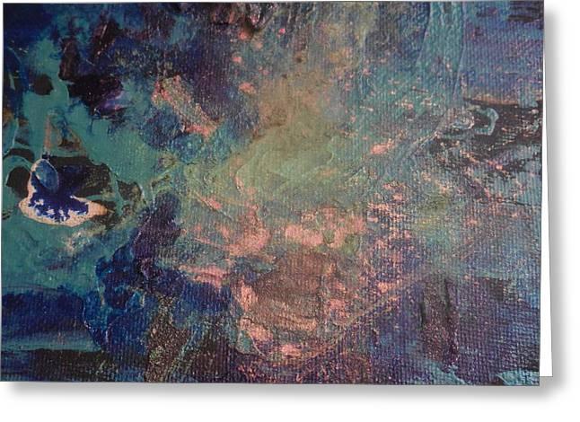 Powder Greeting Cards - Little Blue Flounder Greeting Card by Karen Butscha