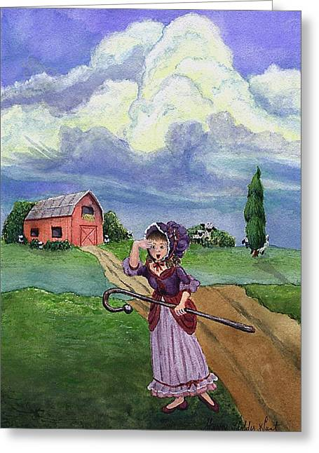 Little Bo Peep Greeting Card by Sherry Holder Hunt