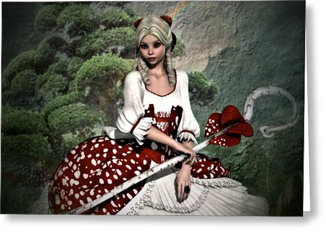 Little Bo Peep Greeting Card by G Berry