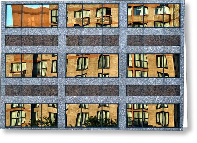 Geometric Photographs Greeting Cards - Little Boxes Greeting Card by Anne Worner