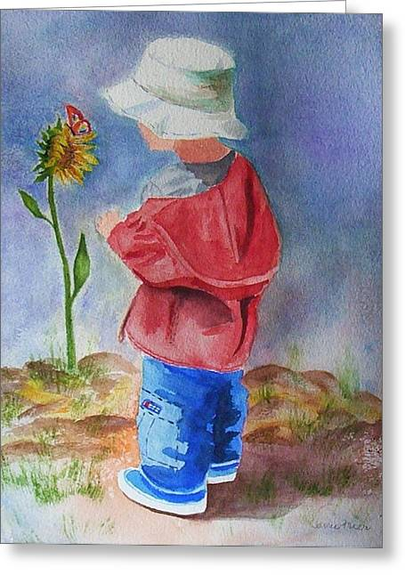 Little Boy Greeting Cards - Little Boy Greeting Card by Jamie Frier
