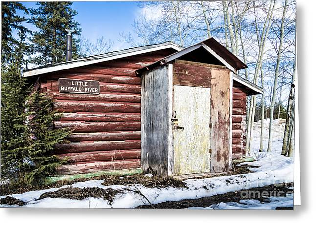 Little Cabin Greeting Cards - Little Buffalo River Greeting Card by Lisa Killins