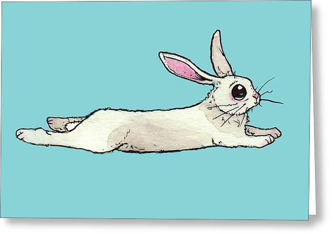 Little Bunny Rabbit Greeting Card by Katrina Davis