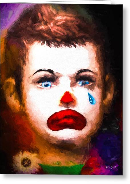 Tears Greeting Cards - Little Circus Clown Greeting Card by Bob Orsillo