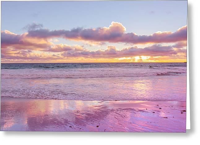 Little Corona Beach Orange County Beautiful Sunset Ocean Greeting Card by Ariane Moshayedi