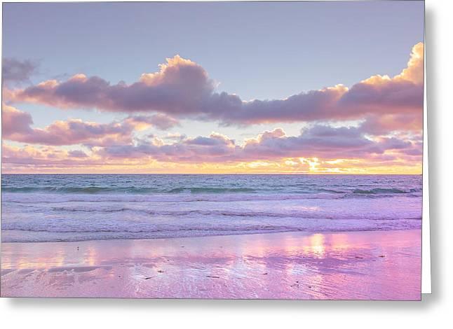 Little Corona Beach Orange County Beautiful Sunset Over Ocean Greeting Card by Ariane Moshayedi