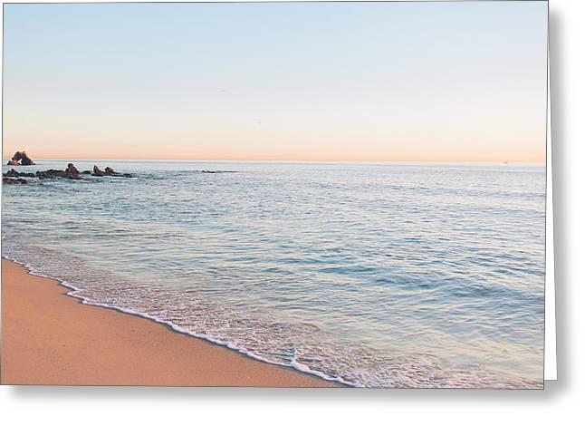 Little Corona Beach Orange County Sunset Greeting Card by Ariane Moshayedi