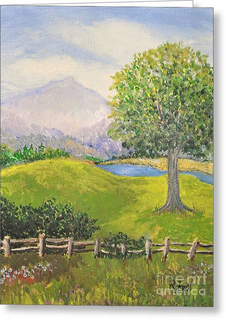 Little Country Scene Too Greeting Card by Reb Frost