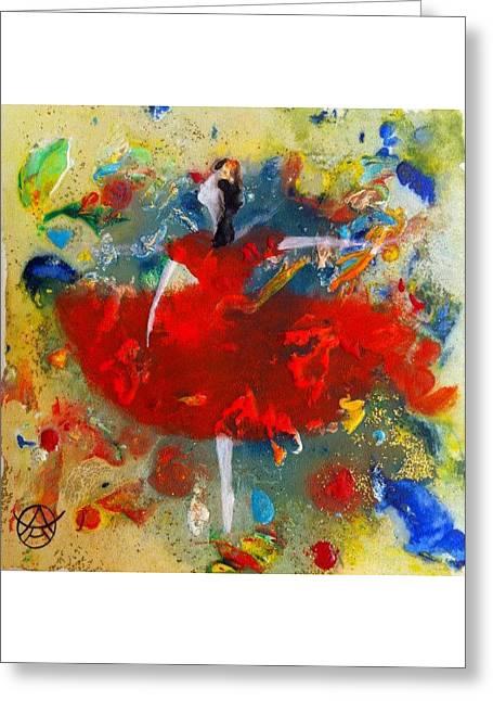 Dress Greeting Cards - LIttle Dancer Greeting Card by Agneta Holmqvist