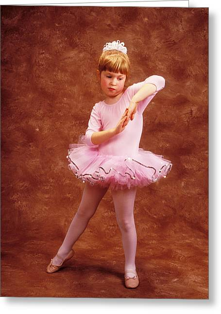 Costume Photographs Greeting Cards - Little dancer Greeting Card by Garry Gay