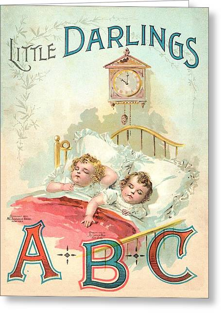 Jack And Jill Greeting Cards - Little Darlings Patriot Book Cover Greeting Card by Reynold Jay