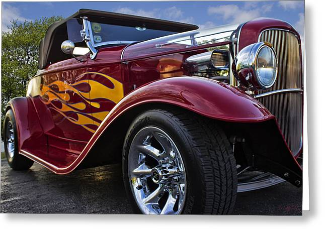 Little Deuce Coupe Greeting Card by Skip Tribby