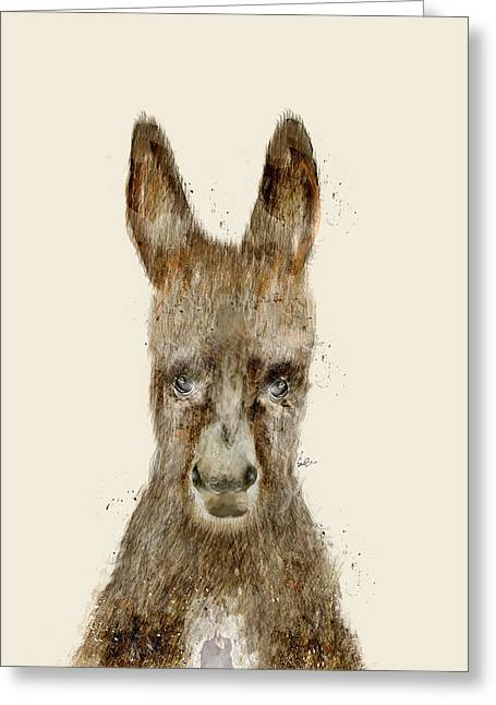 Baby Donkey Greeting Cards - Little Donkey Greeting Card by Bri Buckley