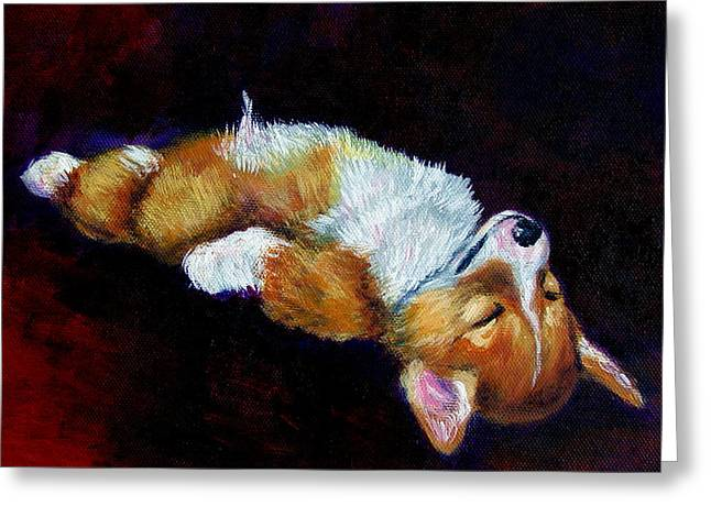 Corgis Greeting Cards - Little Dreamer Greeting Card by Lyn Cook