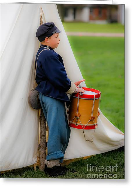 Reenact Greeting Cards - Little Drummer Boy Greeting Card by Lynn Sprowl