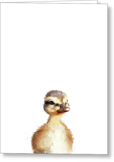 Baby Mallards Greeting Cards - Little Duck Greeting Card by Amy Hamilton
