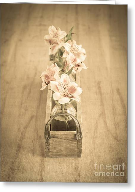Dainty Greeting Cards - Little Flowers Greeting Card by Edward Fielding