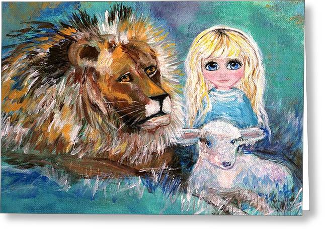 Little Harmonie Greeting Card by Leslie Allen