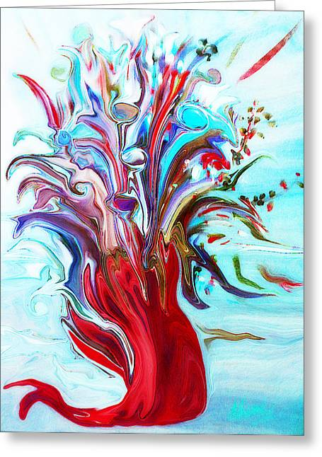 Sherri Painting Greeting Card featuring the digital art Abstract Little Mermaid Vase  By Sherriofpalmsprings by Sherri  Of Palm Springs