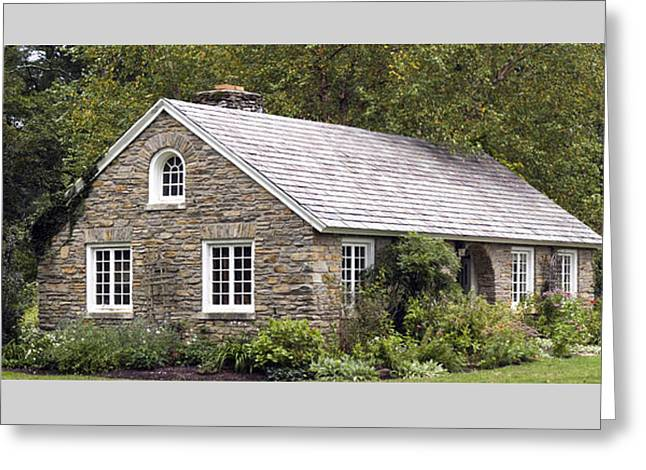 Paint Photograph Greeting Cards - Little House Colonial Park Fall Greeting Card by Warren M Gray