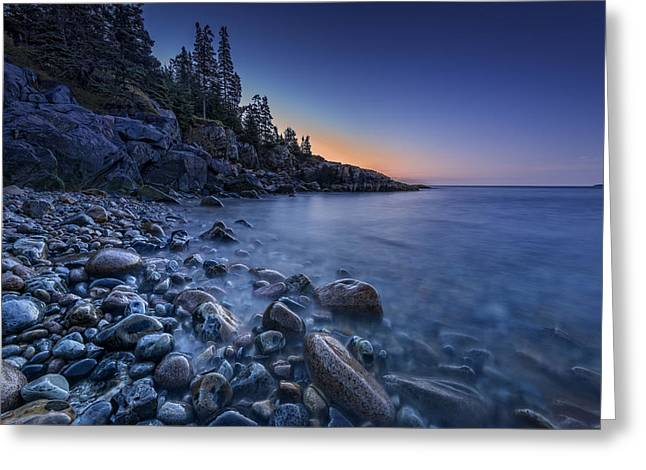 New England Ocean Greeting Cards - Little Hunters Beach Greeting Card by Rick Berk