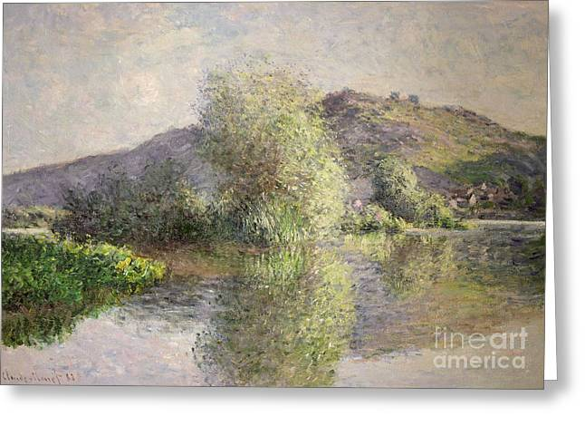 Little Islands At Port-villez Greeting Card by Claude Monet
