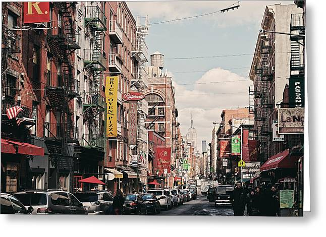Little Italy Greeting Card by Benjamin Matthijs