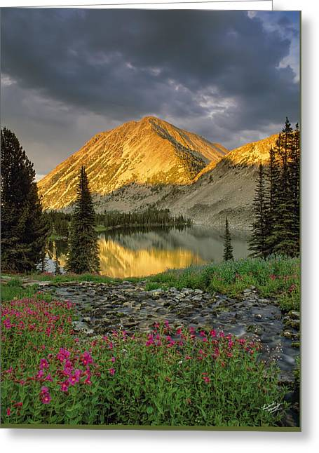 Little Lake Greeting Card by Leland D Howard