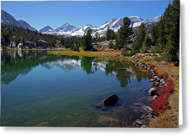 Little Lakes Valley Greeting Cards - Little Lakes Valley 4 Greeting Card by Eastern Sierra Gallery