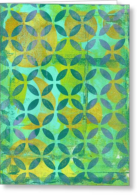 Lisa Noneman Mixed Media Greeting Cards - Little Lemon Tree Greeting Card by Lisa Noneman