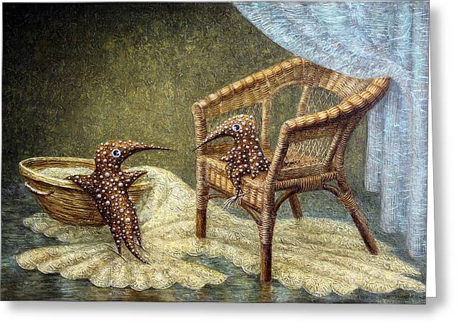 Imaginary World Greeting Cards - Little Love Story Greeting Card by Lolita Bronzini
