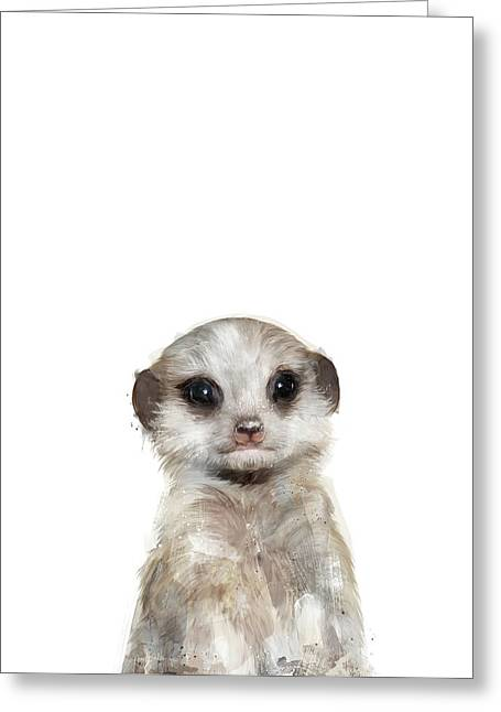 Little Meerkat Greeting Card by Amy Hamilton