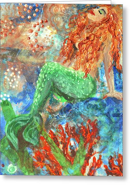 Little Mermaid Greeting Card by Jennifer Kelly