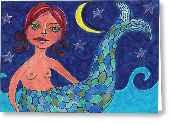 Little Mermaid Greeting Card by Lisa Noneman