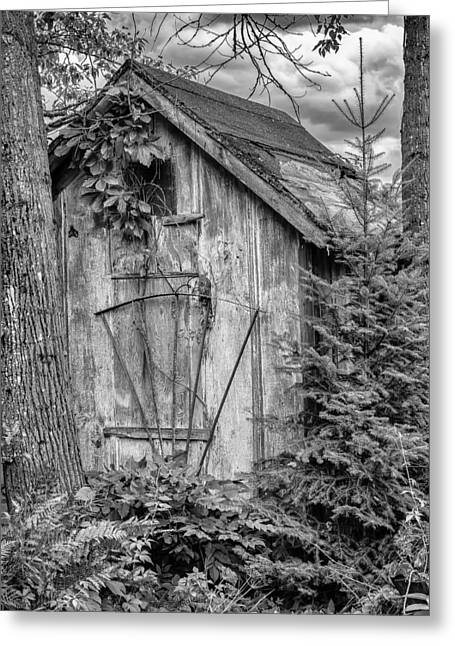 Garden Shed Greeting Cards - Little Old Garden Shed Greeting Card by Jeffrey Ewig